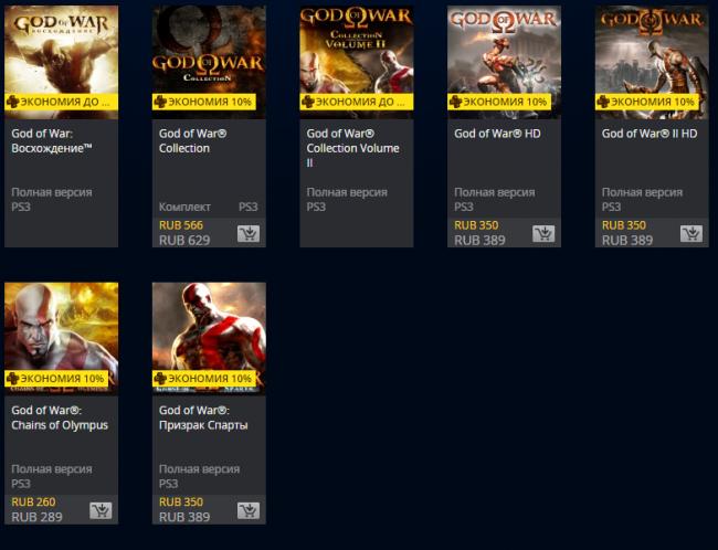 Распродажа God of War в PS Store
