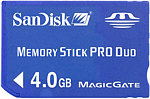 Форматирование Sandisk Memory Stick PRO Duo 4Gb
